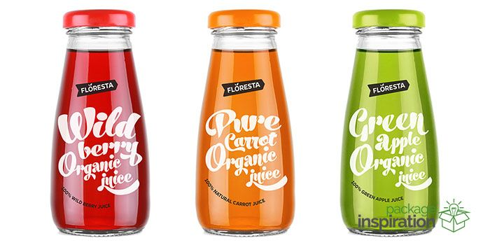 Floresta glass bottle organic juices 45 pcs (15 each)