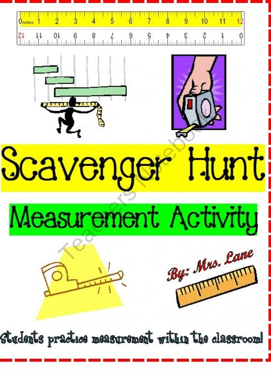 scavenger hunt measurement activity customary and metric units from mrs lane on. Black Bedroom Furniture Sets. Home Design Ideas