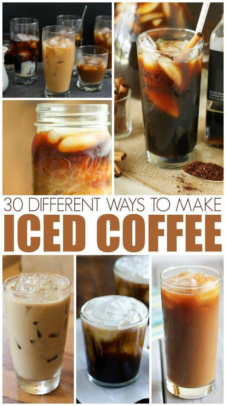 30 Different Ways To Make Iced Coffee Espressocoffee Coffee Recipes Coffee Drink Recipes Ice Coffee Recipe