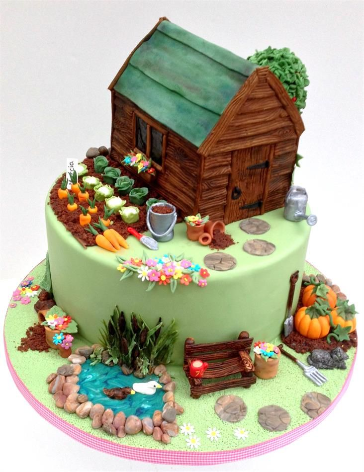 Garden Themed 50th Birthday Cake