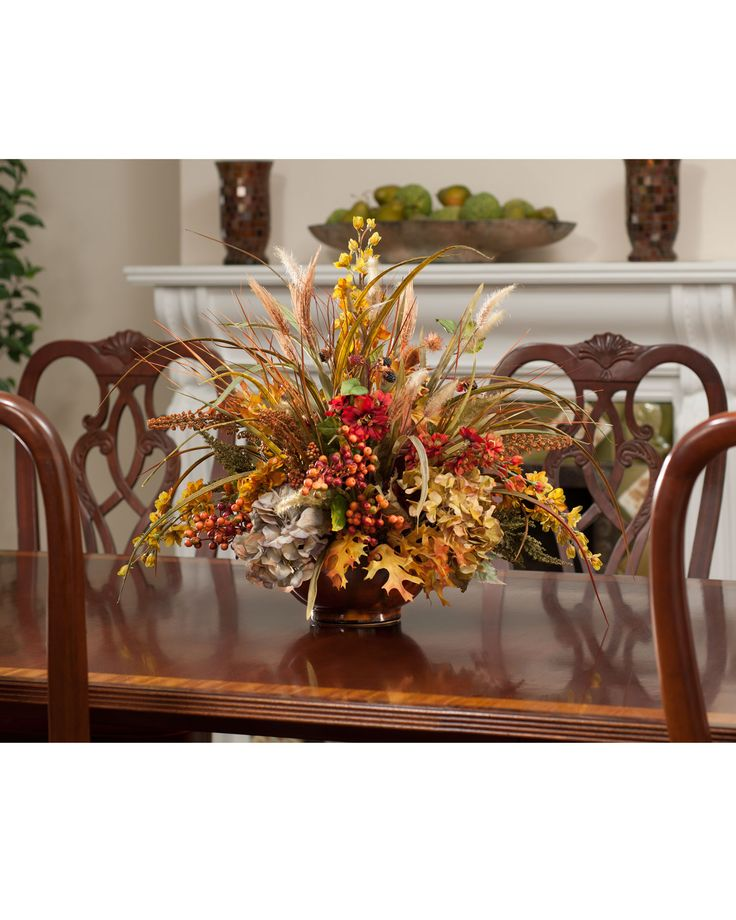 752 best images about floral centerpiece decor on pinterest floral arrangements thanksgiving - Best dried flower arrangements a colorful winter ...