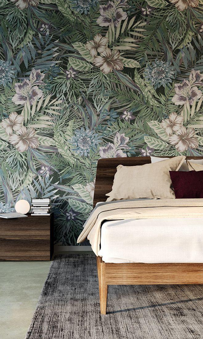Venature di legno accompagnano il verde della parete per una camera tutta natura! #LaCasaModerna #Beds #SweetDreams ● lacasamoderna.com
