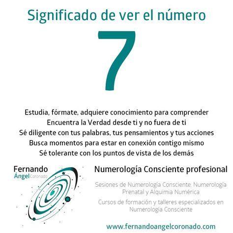 significado de ver el numero 7