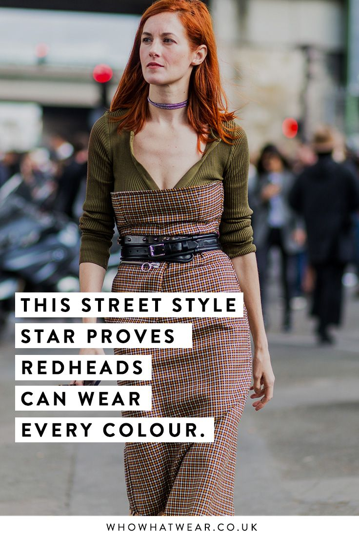Proof that red heads really can wear every colour.