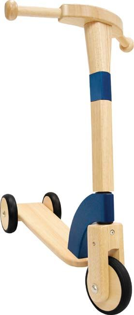Retro wooden scooter