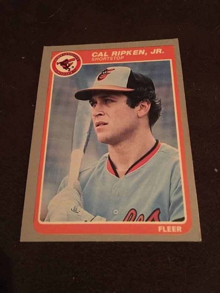 1985 fleer card 187 cal ripken jr orioles from 099