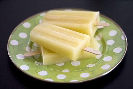 Picolé de melão com gengibre e limão