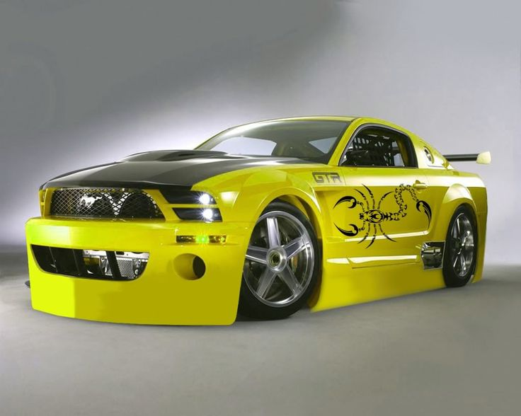 Yellow Mustang Modified & 42 best Ford Mustang Modification images on Pinterest | Ford ... markmcfarlin.com
