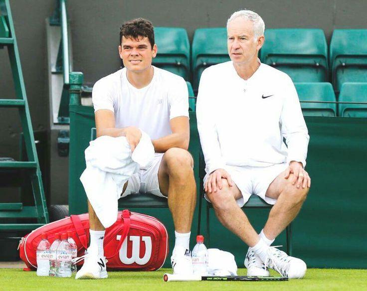 John McEnroe & Milos Raonic - Wimbledon 2016