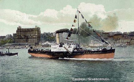 "Paddle Steamer ""Cambria"" in 1907"