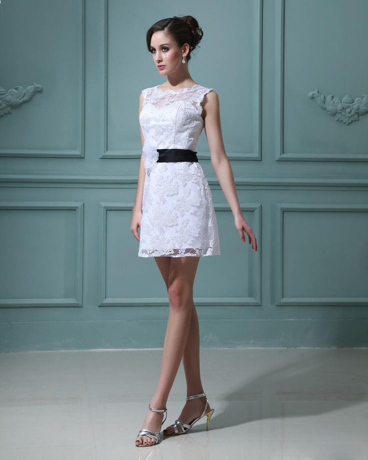Lace Wedding Short Reception Dress – fashion dresses
