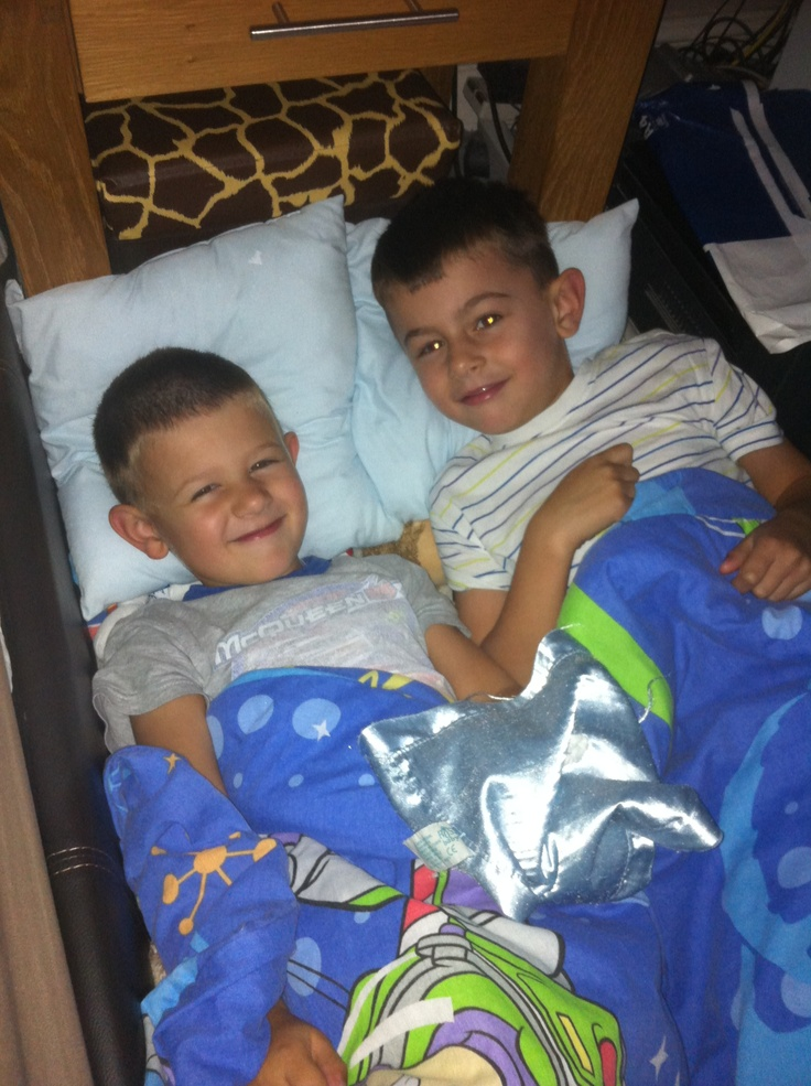 My little men set up camp in my bedroom at 6am !!