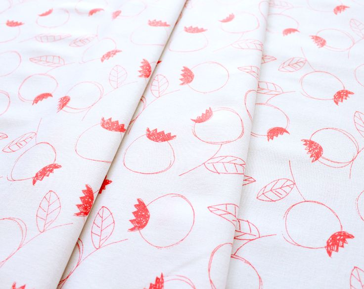 Umbrella Prints Flowers Rosehip in Coral