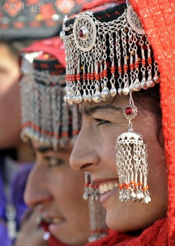China | Women in traditional ethical costumes attend ceremony during the seeding festival in Tajik Autonomous County of Taxkorgan, Xinjiang Uygur Autonomous Region, | © Shen Qiao