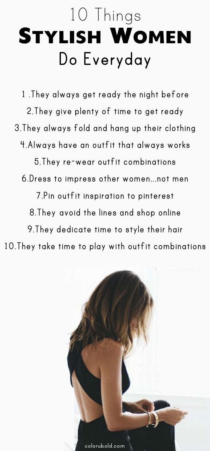 30 Ways to Always Look Stylish Everyday! How to look stylish. Fashion tips and tricks to help every woman.