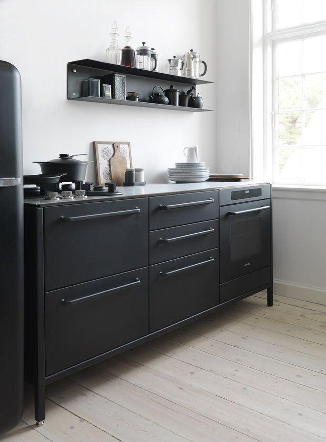 Die besten 25+ schwarze Küchen Ideen auf Pinterest Marine - farbe fur kuche aktuellen tendenzen