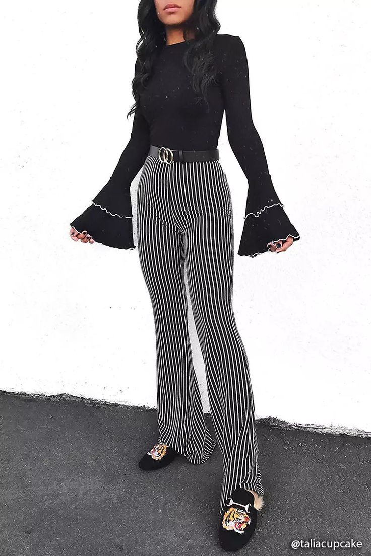 Product Name:Stripe High-Rise Flare Pants, Category:bottoms, Price:22.9