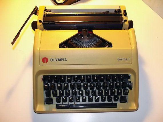 Vintage Working Manual Typewriter Olympia Carina by OldTypewriters