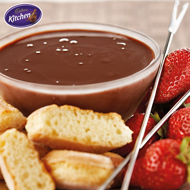 Spend your Sunday with  a few friends and some delicious CADBURY chocolate! This fondue is perfect for sharing!  - Trish  #desserts #baking #chocolate #friends #CADBURY #bakingideas #partyfood #Sunday