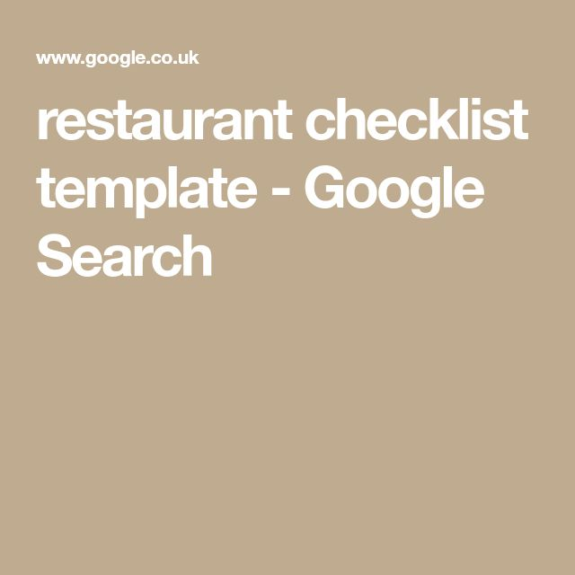 Πάνω από 25 ξεχωριστές ιδέες για Checklist template στο Pinterest - restaurant checklist template