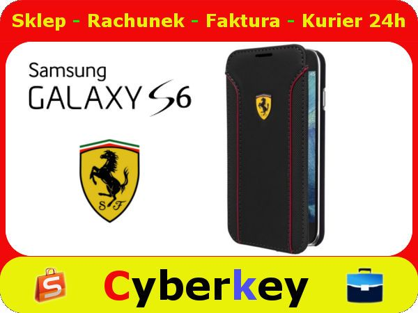 Etui Pokrowiec Skora Ferrari Samsung S6 Fiorano Samsung S6 Samsung Samsung Galaxy S6