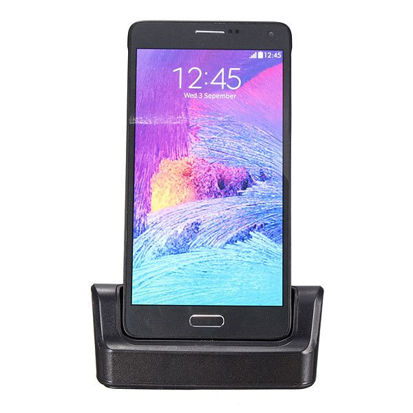 Desk Charger Data Transmission OTG External Battery Charger Cell Phone Holder For Samsung Galaxy Note 4