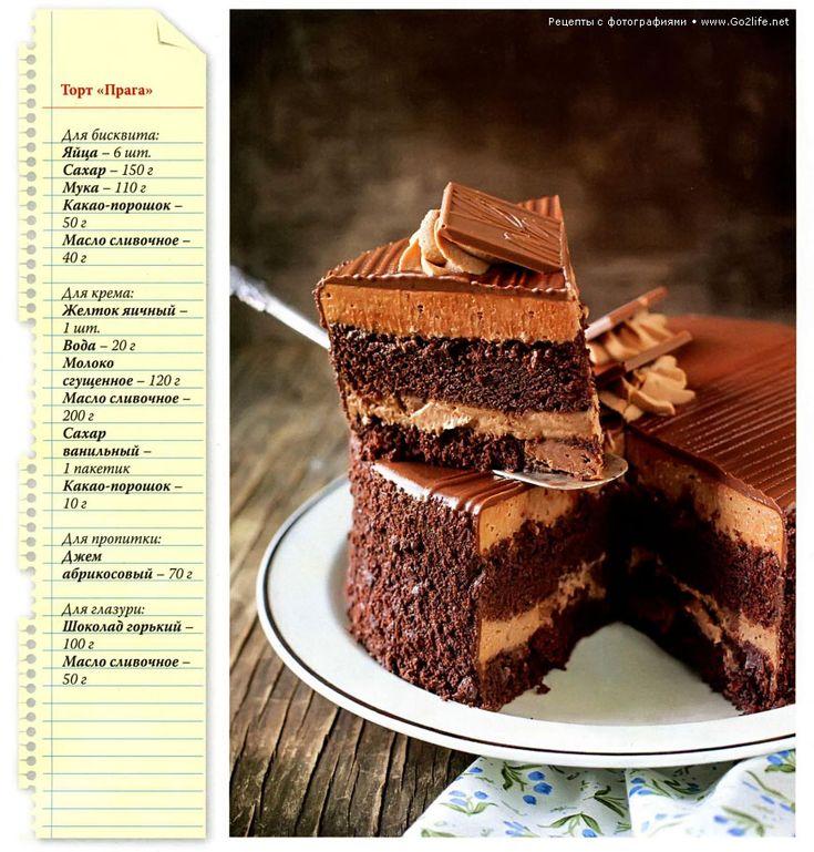 Шоколадные рецепты: торт Прага
