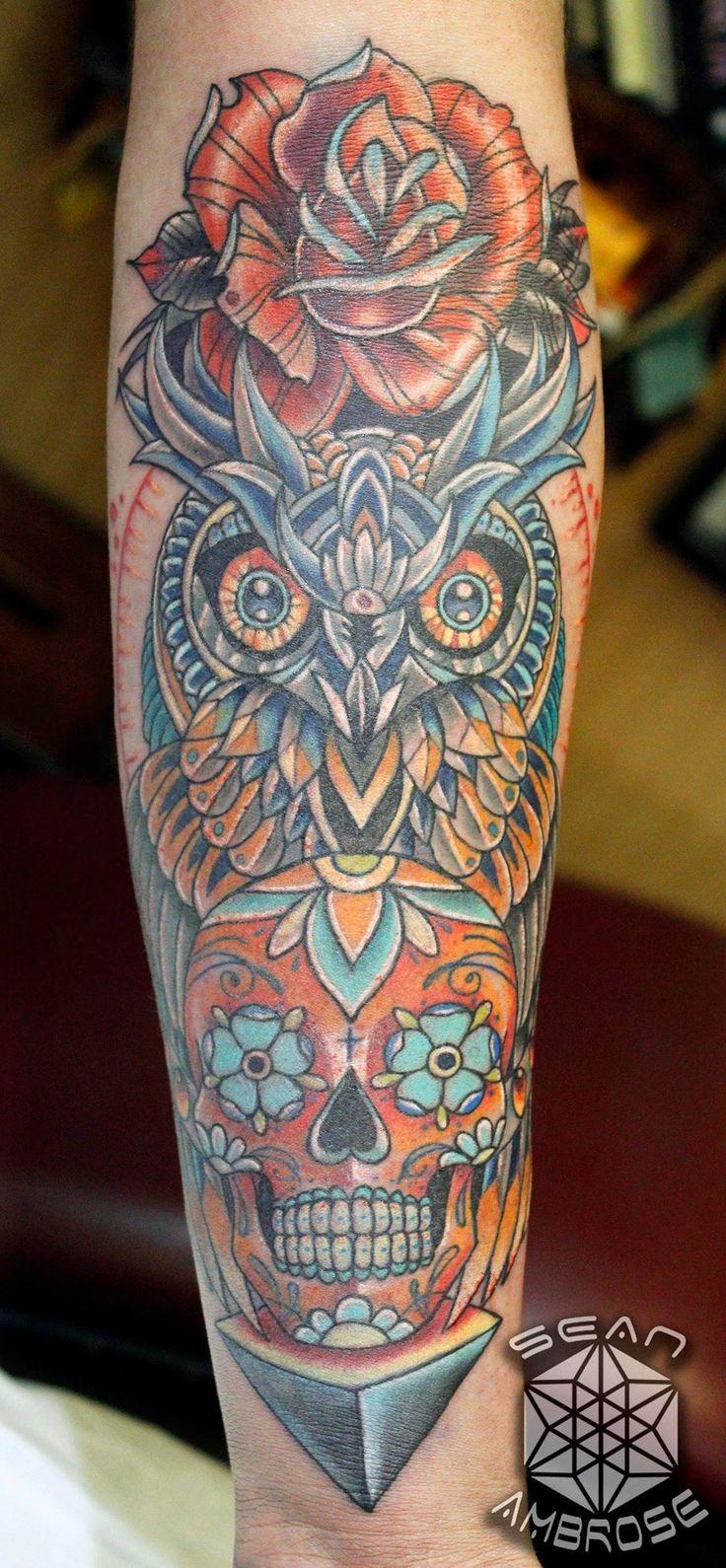 17 best ideas about sugar skull owl on pinterest pretty for Owl with sugar skull tattoo