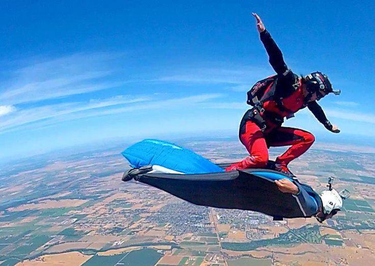 sky surfing... Adrenaline 200%