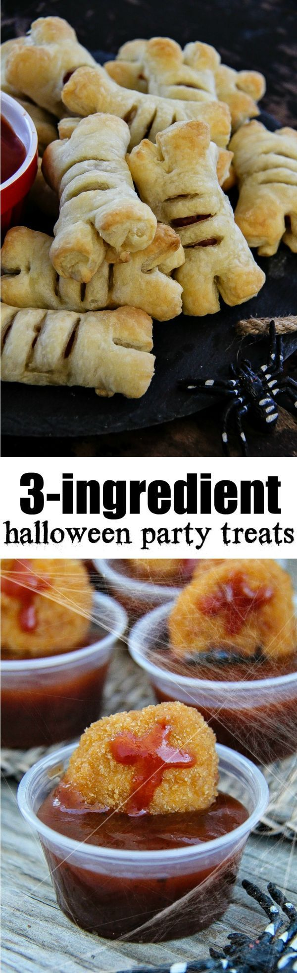 AD These quick and easy Halloween party food ideas only require 3 ingredients each and will be a hit with everyone. #ClubBash
