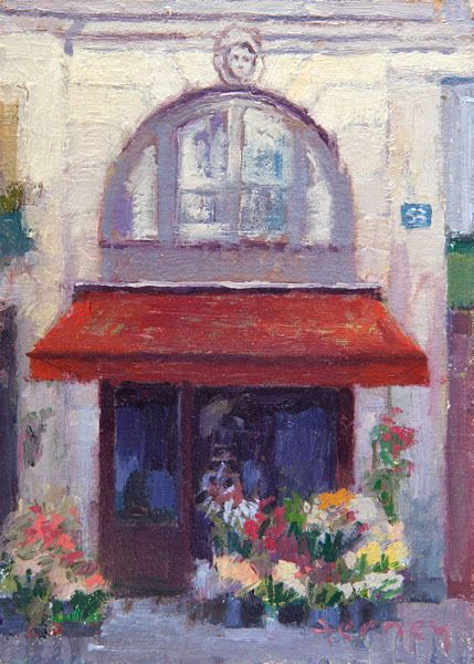 Paris paintings by Paul Ferney - love !