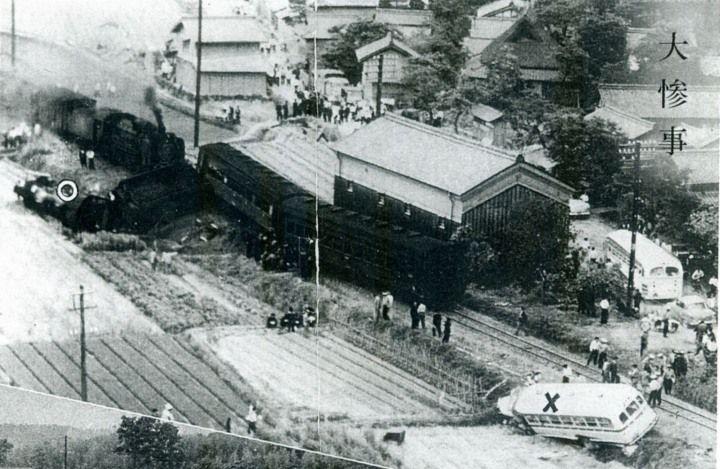 Sanin line 1958 buss accident - 日本の鉄道事故 (1950年から1999年) - Wikipedia