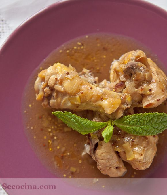 Receta de pollo en salsa de puerros a la mostaza | Cantabria | Spain