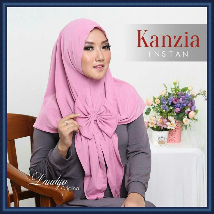 Jilbab Instan Jersey Terbaru Cantik Modern Kanzia by Laudya Hijab