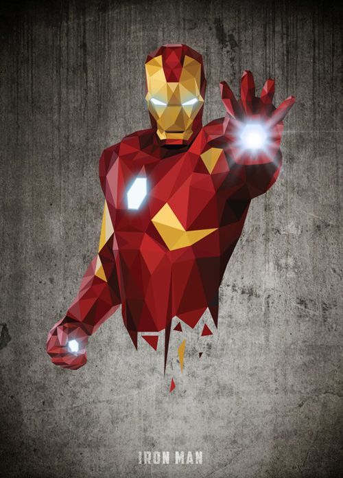 Low-Poly Portrait #IronMan