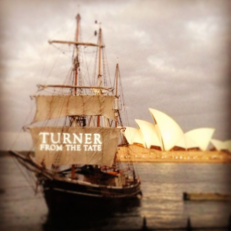 The National Gallery of Australia re-created J.M.W Turner's Peace-Burial at Sea 1842 on Sydney Harbour last night.. more photos to come!  #Turnerfromthetate #nationalgalleryofaustralia #nationalgalleryaus #nga #Turner #art #boat #sydneyharbour #Australia #operahouse