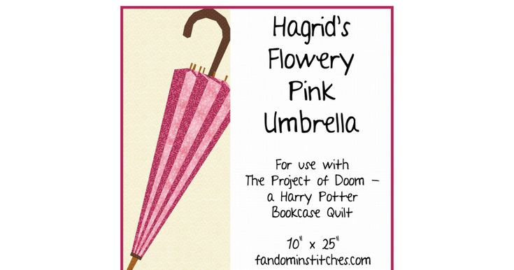 Pod Hagrid S Flowery Pink Umbrella Pdf With Images Pink