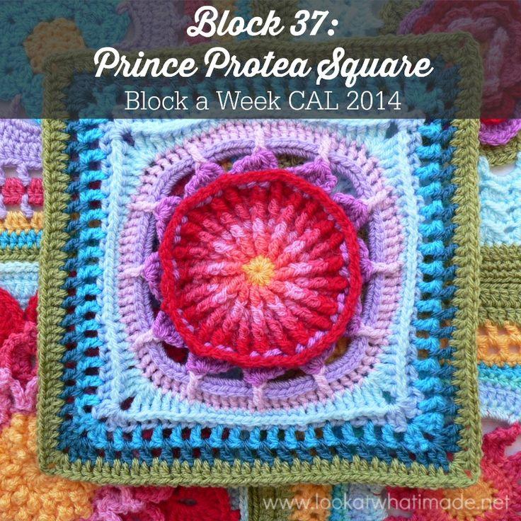 Prince Protea Square Block 37: Prince Protea Square {Photo Tutorial and Pattern}