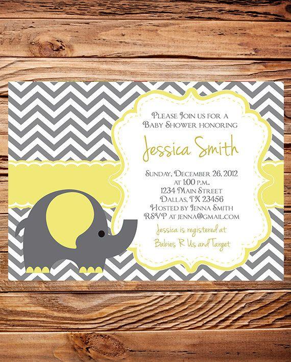 Elephant Baby Shower Invitation Teal Baby by StellarDesignsPro