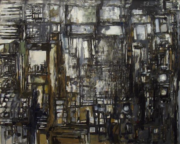 'Le Grand Atelier' (The Large Studio) by Maria Helena Vieira da Silva,1958