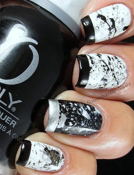 Splatter Nail Design