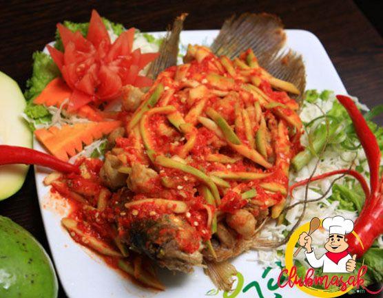 Resep Hidangan Lauk Gurame Bakar Bumbu Cabai, Makanan ...