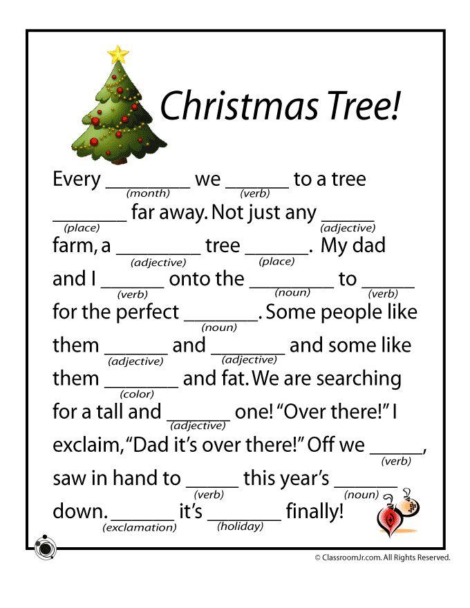 Christmas Mad Libs | Mad Libs | Christmas, Christmas activities ...