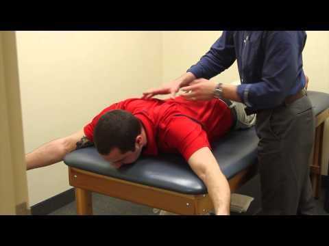 Trapezius training to stabilize the shoulder blade