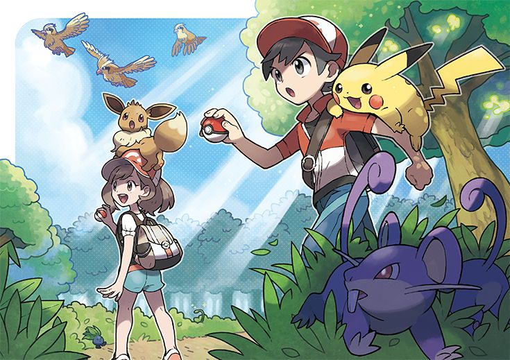With Pikachu or Eevee by your side, you'll meet, catch, and raise many Pokémon on your journey to improve your skills and become the best Pokémon Trainer that you can be! Pokémon: Let's Go, Pikachu! and Pokémon: Let's Go, Eevee! are available now. Pikachu Pikachu, Eevee Pokemon, Eevee Wallpaper, Wallpaper Size, Wallpaper Art, Iphone Wallpaper, Pokemon Especial, Masters, Fire Emblem