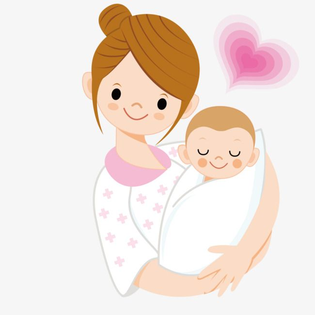 Mother Holding A Baby Vector Baby Mom Png And Vector Baby Drawing Cartoon Mom Baby Illustration