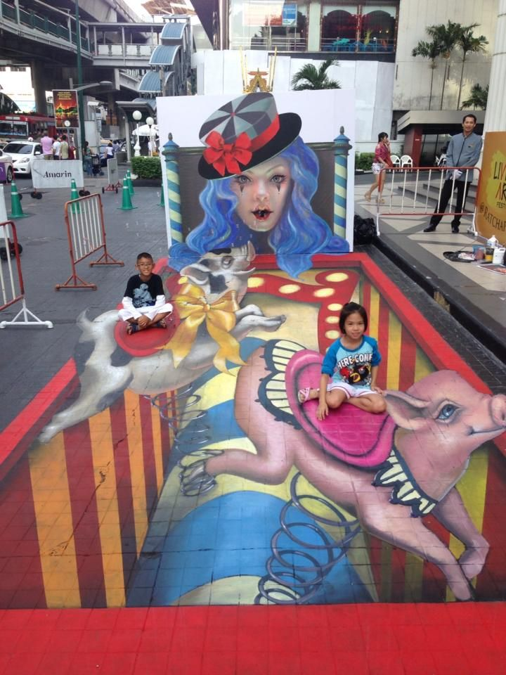 Living Arts Festival – Bangkok – 3D Street Painting - Professional Chalk Artists & Street Painters