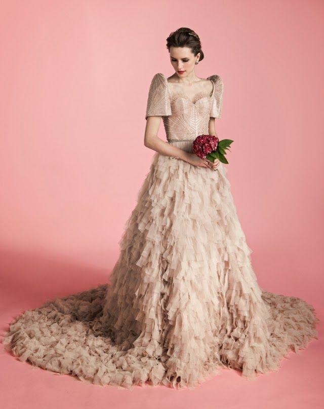 Mejores 219 imágenes de Wedding Dresses - Color en Pinterest ...