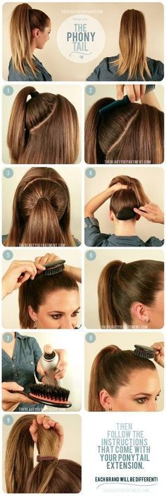 Pretty Designs Fashionable Hairstyle Tutorials for Long Thick Hair. #ponytail #hair #hairstyles #tutorials