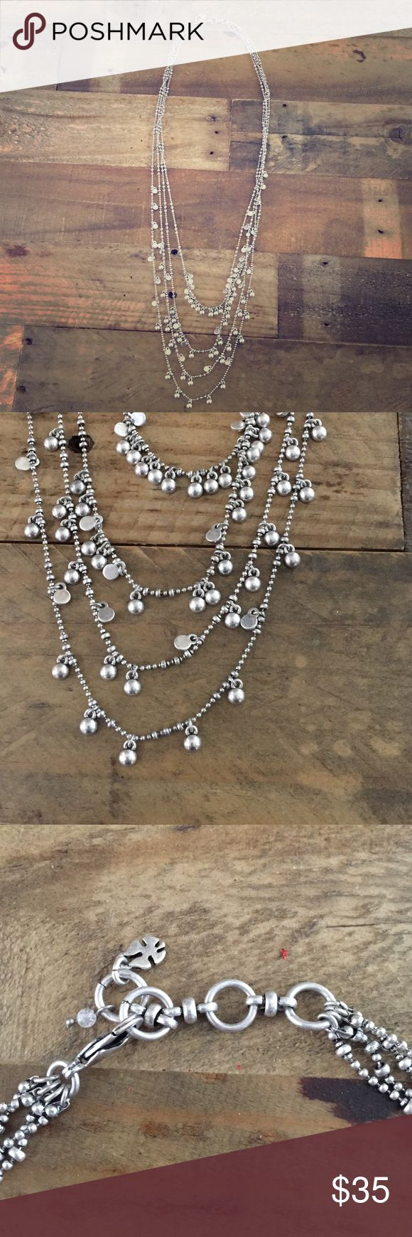 Lucky Brand Silvertone Boho Statement Necklace New without tags Lucky Brand Jewelry Necklaces